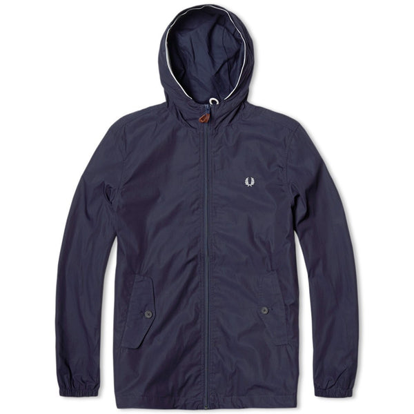 Fred Perry Cagoule Full Zip Wind Breaker - Navy
