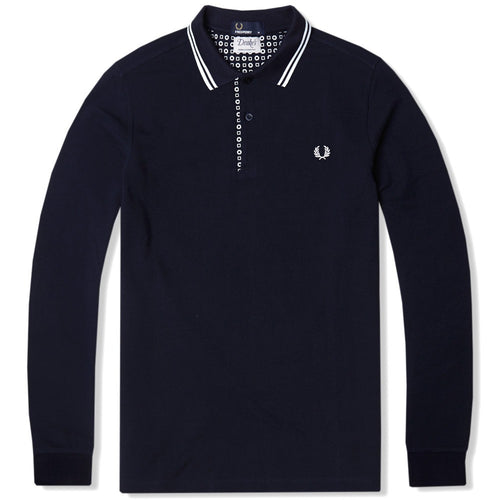 Fred Perry Drakes Long Sleeve Polo - Navy