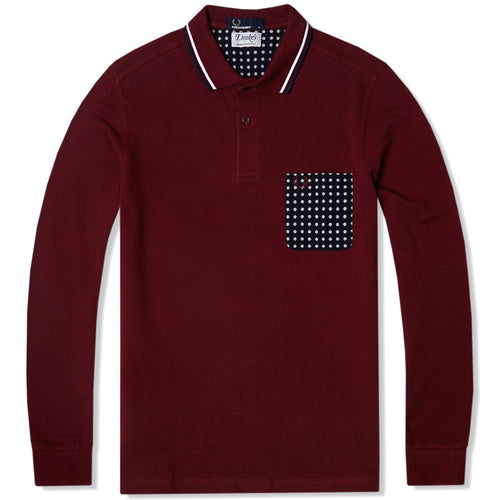 Fred Perry Drakes Pocket Polo, Red