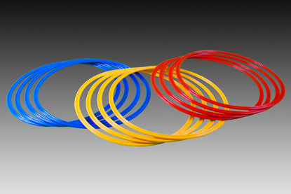 KwikGoal Deluxe Speed Rings In Blue, Yellow & Red