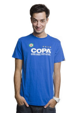 COPA Football Logo Short Sleeve Blue T-Shirt