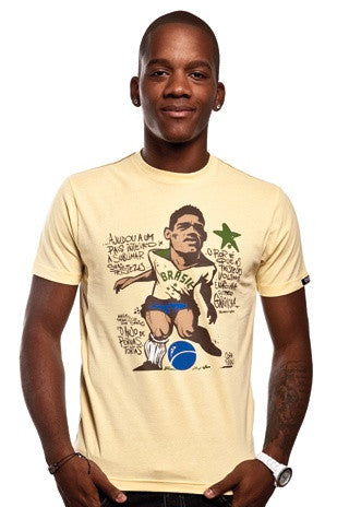 COPA Football Garrincha Short Sleeve Beige T-Shirt