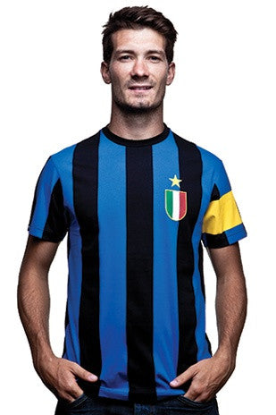 COPA Football Inter Capitano Short Sleeve Black & Blue T-Shirt