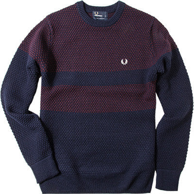 Fred Perry Pique Knit Sweater, Long Sleeve