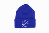GFY Beanie Alternate Logo, Royal