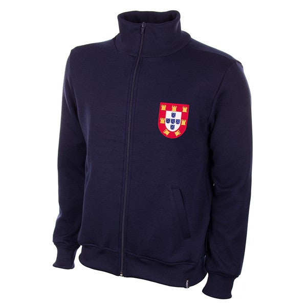 COPA Portugal 1972 Retro Jacket, Long Sleeve, Navy Blue, Front View