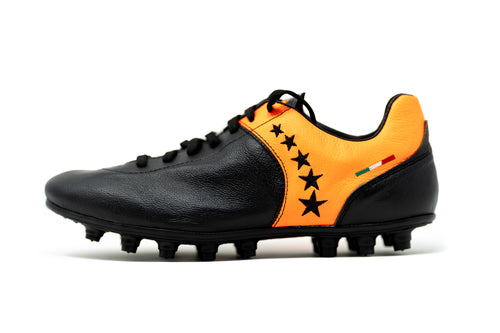 Akuna Cinquestelle Piuma HG Soccer Cleat - Black/Orange
