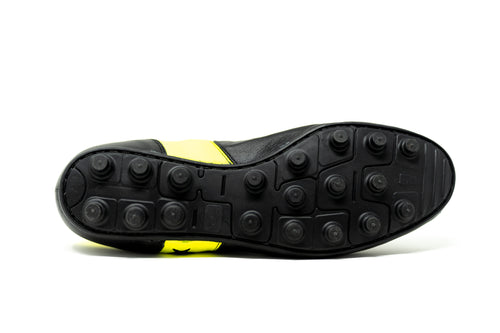 Akuna Cinquestelle Piuma HG Soccer Cleat -  Black/Yellow