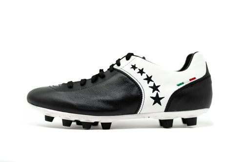Akuna Cinquestelle Piuma FG Soccer Cleat - Black/White