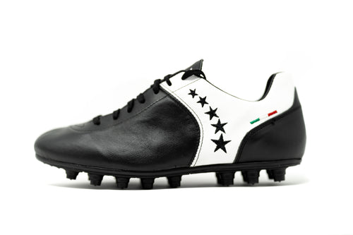 Akuna Cinquestelle Piuma HG Soccer Cleat - Black/White