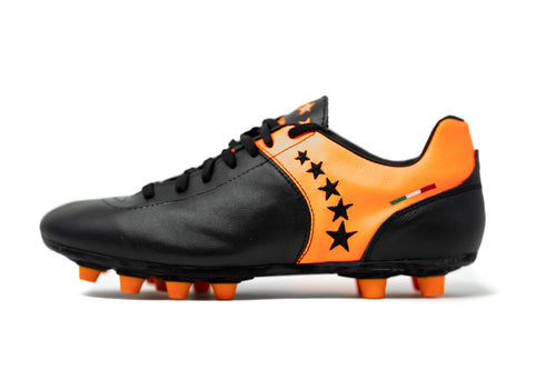 Akuna Cinquestelle Piuma FG Soccer Cleat - Black/Orange
