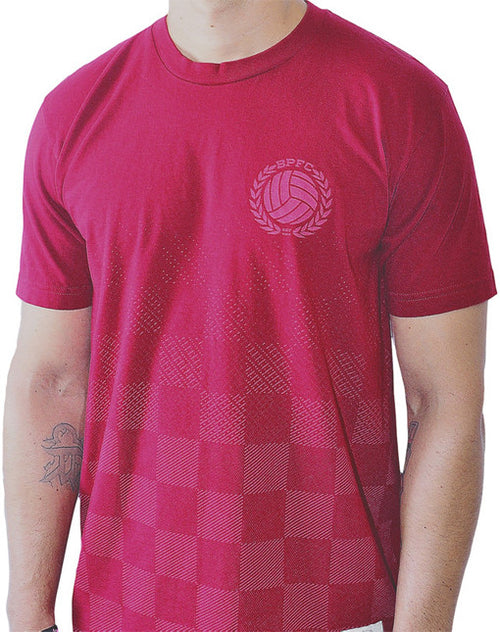 Bumpy Pitch Checkers T-Shirt Red