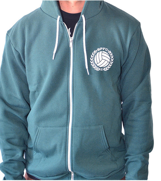 Bumpy Pitch Away Hoodie, Full-Zip, Long Sleeve, Green