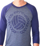 Bumpy Pitch 3/4 Raglan BPFC Crest Shirt, Long-Sleeve, Grey & Navy