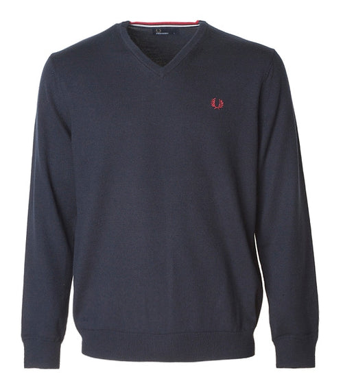 Fred Perry Classic V-Neck Navy