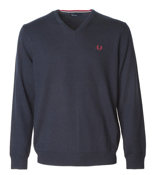 Fred Perry Classic V-Neck, Navy