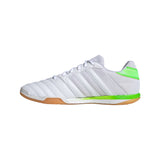 Adidas Top Sala Indoor Soccer Futsal Shoe, White, Synthetic Upper, Rubber Outsole, Side View