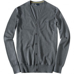 Fred Perry Classic Cardigan - Grey