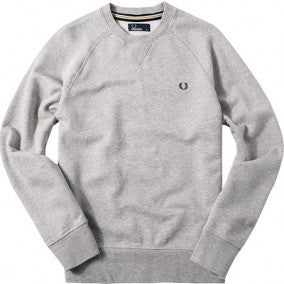 Fred Perry Loopback Crew - Grey