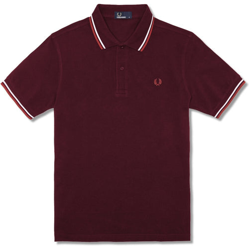 Fred Perry Tipped Polo, White