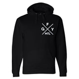GFY Alternate Offset Logo Pull Over, Black
