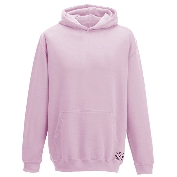 Pink longsleeve sweater with a hood