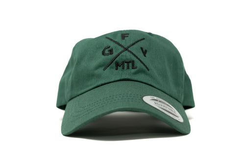 GOAL X GFY Dad Cap, Forest Green, Front View