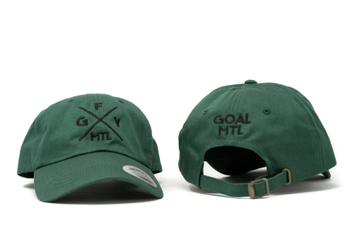 GOAL X GFY Dad Cap, Forest Green, Back View