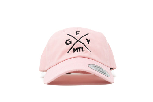 GOAL X GFY Dad Cap, Pink, Front View