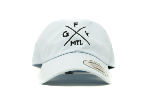GOAL X GFY Dad Cap, Sky Blue, Front View