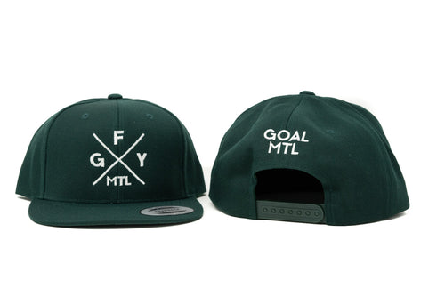 GOAL X GFY Snapback Cap, Forest Green