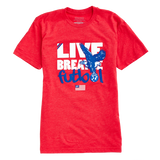LBF Freedom T-Shirt, Short Sleeve, Red