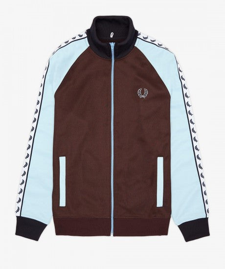 Fred Perry Laurel Taped Track Jacket Brown/Blue