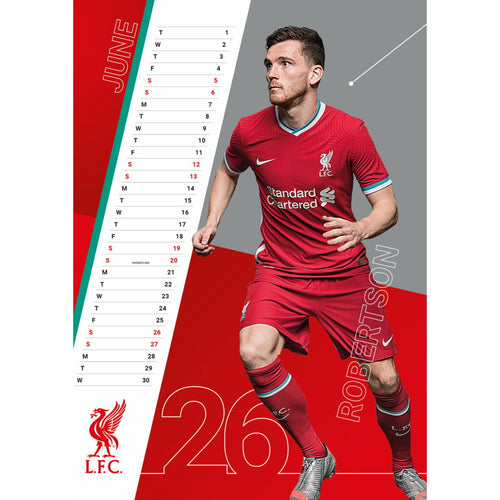 Liverpool 2021 Calendar, Inside View
