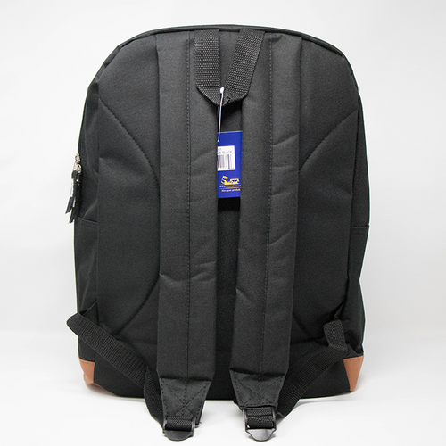 Black school bag with 2 shoulder straps