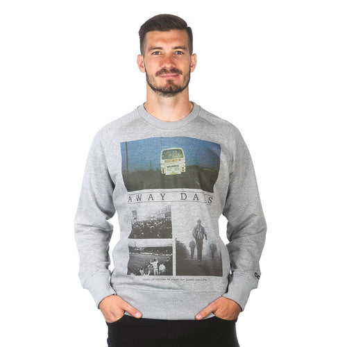 COPA Football Away Days Sweater, Long Sleeve, Grey