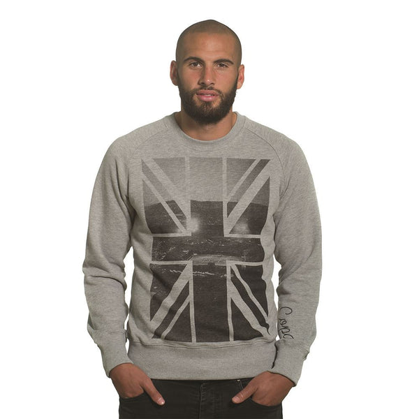 COPA Football Union Jack Sweater, Long Sleeve, Grey