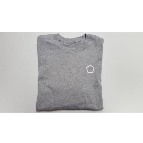 Grey Longsleeve tshirt with White Pentagon heart side