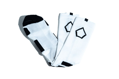 PSB Pentagon Crew Socks - White