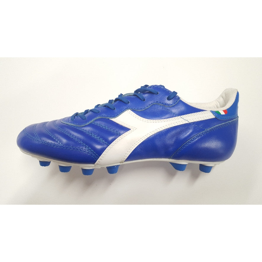 the latest 07885 3d85c Diadora Brasil Made In Italy LT FG Soccer Cleat - Royal Blue