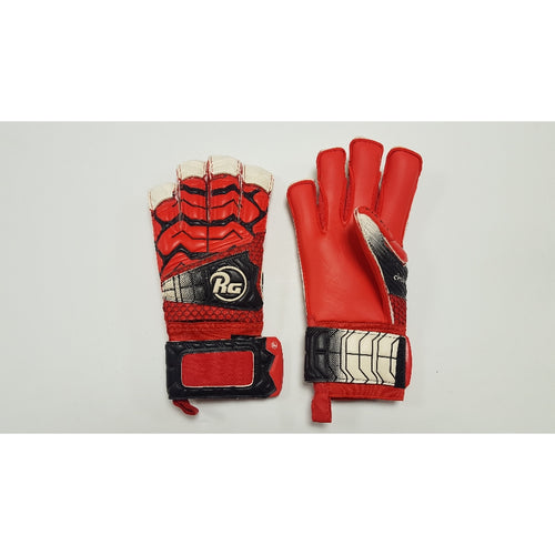 RG Chebere Red Goalkeeper Gloves, Roll-Finger & Flat Cut