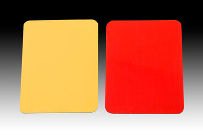 KwikGoal Red & Yellow Referee Warning Cards