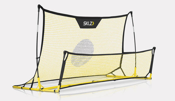 SKLZ Quickster Soccer Training, One Large White Net With A Target, One Small White Net