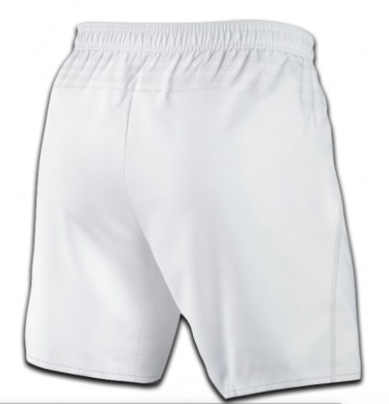 Rear view of white coloured shorts