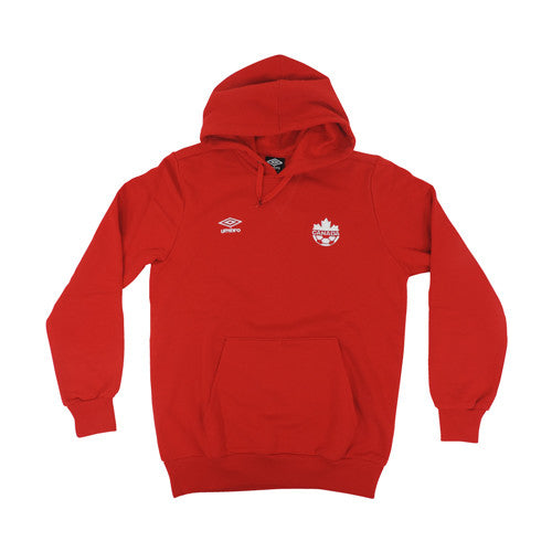 Umbro Canada Youth Fleece Hoody Red
