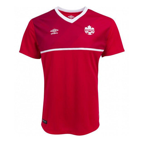 Umbro Canada Home Soccer Jersey 2015, Red, Front