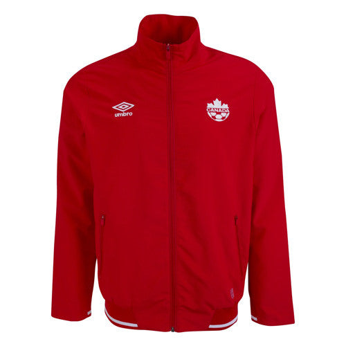 Umbro Canada Walk Out Jacket 2015, Red, Front
