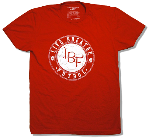 LBF XXI Roja T-Shirt, Short Sleeve, Red