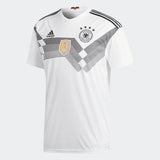 Adidas Germany World Cup 2018 Replica Soccer Jersey, Short Sleeve, White & Black, Front View