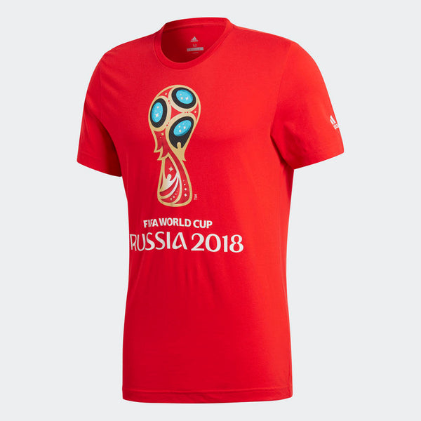 Adidas World Cup 2018 Emblem T-Shirt, Short Sleeve, Red
